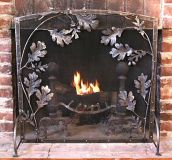 Oakleaf and Acorn Firescreen