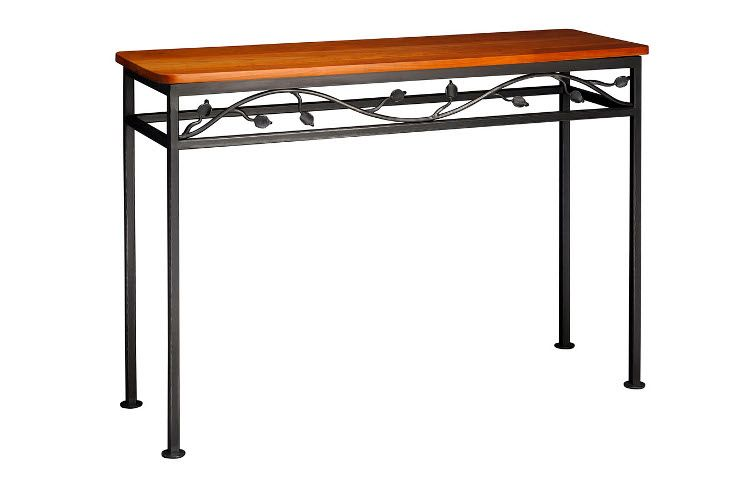 Wrought Iron Vine Console Table Winnipesaukee Forge